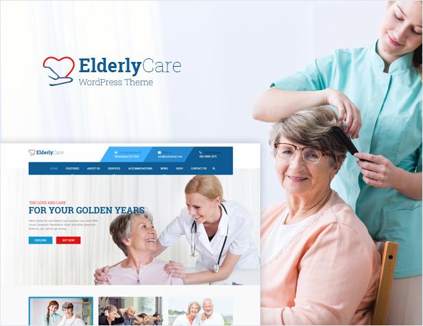 Elderly Care - Senior Care WordPress Theme - 1