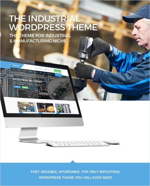 Industrial WordPress thème - the only Industrial theme you will need