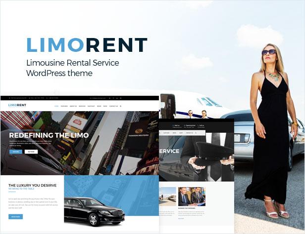 Limo Rent - Limousine and Car Rent WordPress Theme - 1