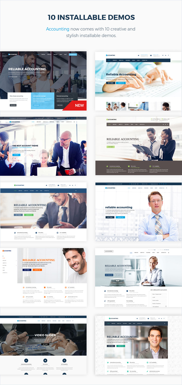 Accounting - Business, Consulting and Finance WordPress theme - 4