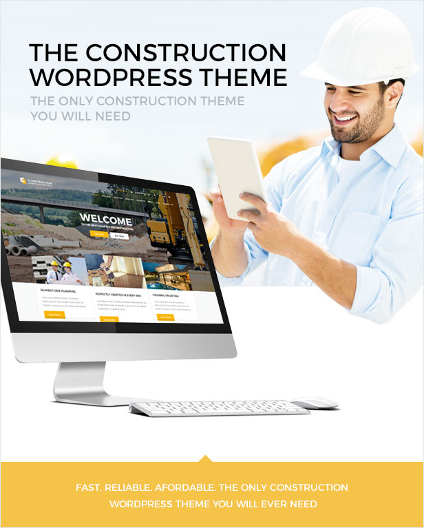 Construction WordPress theme - the only construction theme you will need