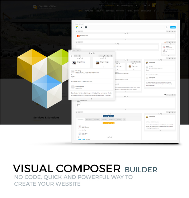 WPBakery Page Builder (formerly Visual Composer) included