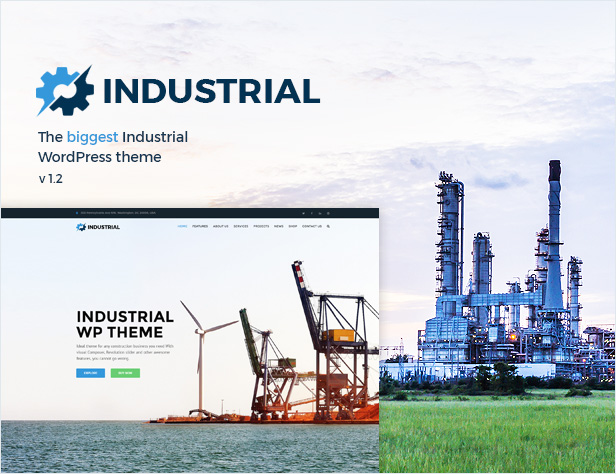 Industrial - Factory Business WordPress Theme - 1