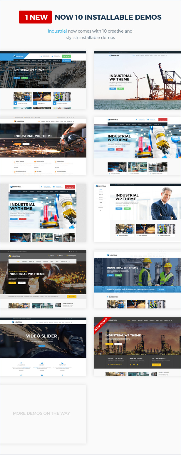 Industrial - Factory Business WordPress Theme - 5