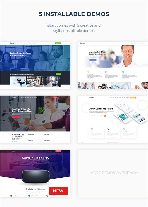 iStart - WordPress Startup Business Theme - 3