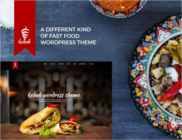 Kebab - Tema de WordPress para restaurante, comida rápida - 1
