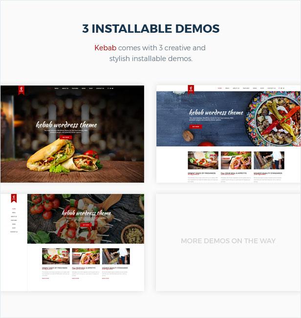Kebab - Tema de WordPress para restaurante, comida rápida - 4